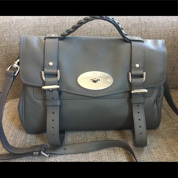 b5e109061a Mulberry Grey Alexa Satchel - Like New. M 5ada14e0daa8f6ef82dac992